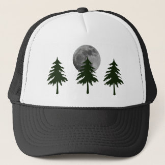 MOON AND TREES TRUCKER HAT