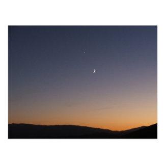 Moon and Venus Postcard