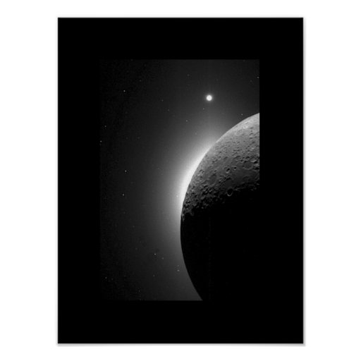 Moon and Venus Poster
