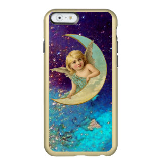 MOON ANGEL IN BLUE GOLD YELLOW SPARKLES INCIPIO FEATHER® SHINE iPhone 6 CASE