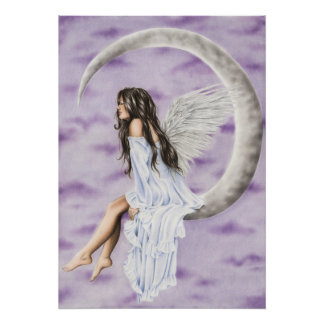 Moon Angel Poster