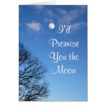 Moon-any occasion-customize greeting card