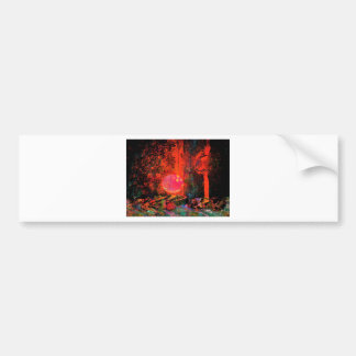 Moon Art | Pink Champagne And You Bumper Sticker