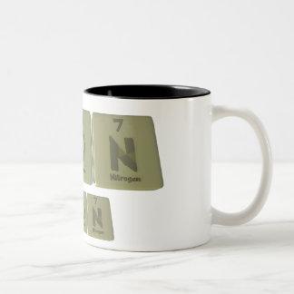 Moon as Molybdenum Oxygen Nitrogen Two-Tone Coffee Mug