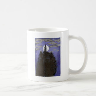 Moon at night coffee mugs