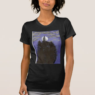 Moon at night tee shirt