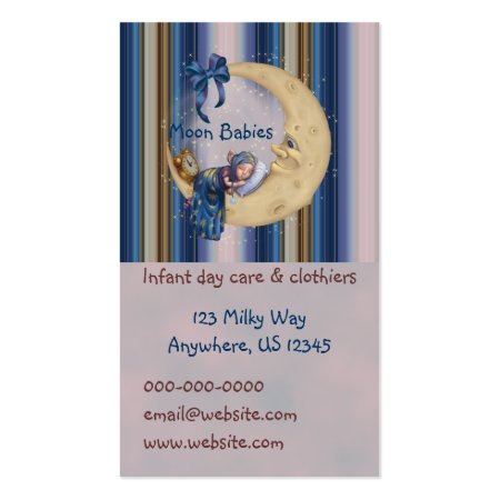 Baby Sleeping on the Moon Baby Store Business Cards