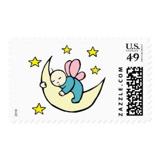 Moon Baby Asleep Postage