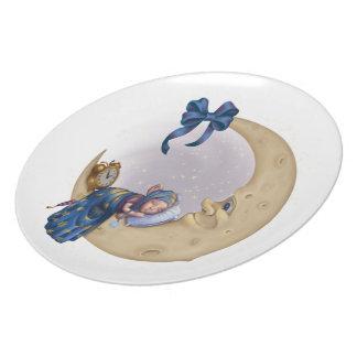 Moon Baby Elf Dinner Plate
