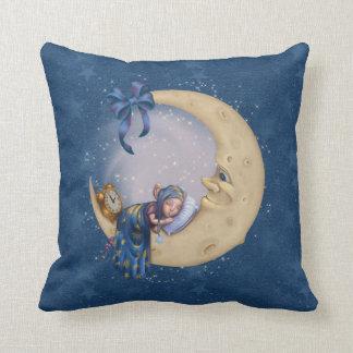 Moon Baby Elf Throw Pillows