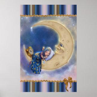 Moon Baby Elf Posters