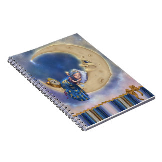 Moon Baby Elf Spiral Notebook