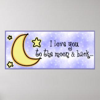 Moon & Back Print