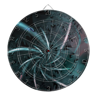 Moon Base Space Art Dartboard With Darts