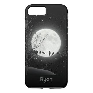 Moon Bath, birds, Winter moon iPhone 7 Plus case