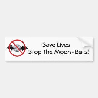 Moon - Bats Bumper Sticker