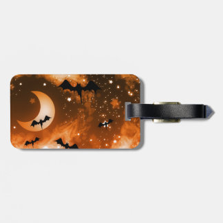 Moon Bats Halloween Night Sky Luggage Tag