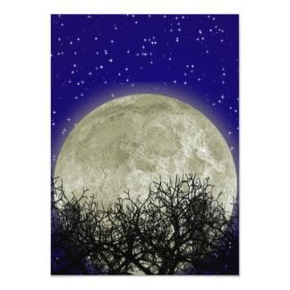 Moon Behind Trees Card