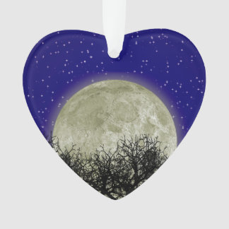 Moon Behind Trees Ornament