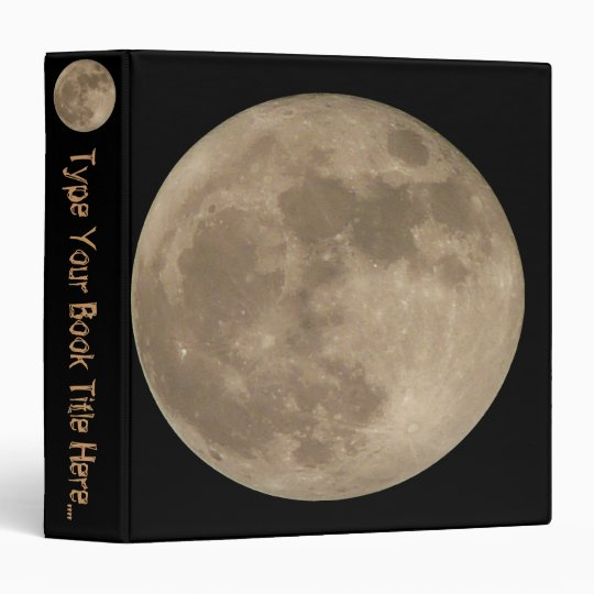 Moon Binder Personalized Full Moon Photo Album