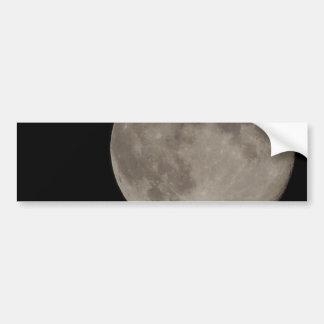 Moon Blue Moon Car Bumper Sticker