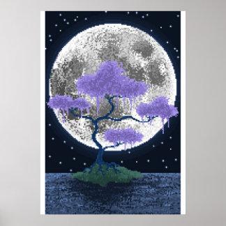 Moon Bonsai Poster