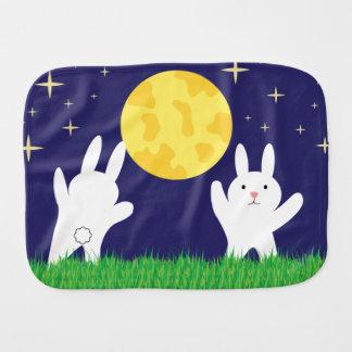 Moon Bunnies Baby Burp Cloth