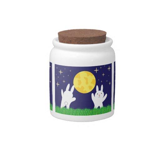 Moon Bunnies Candy Jar