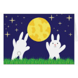 Moon Bunnies Greeting Cards