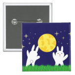 Moon Bunnies Pinback Button