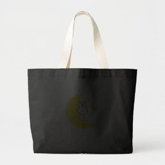 Moon Bunny Tote Bags