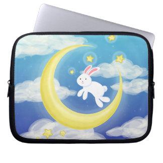 Moon Bunny Blue Computer Sleeves