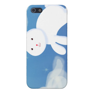 Moon Bunny Blue iPhone SE/5/5s Cover