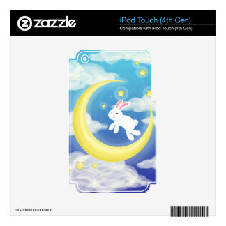 Moon Bunny Blue iPod Touch 4G Skin