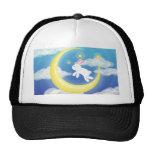Moon Bunny Blue Mesh Hats