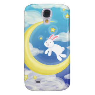 Moon Bunny Blue Samsung Galaxy S4 Cover