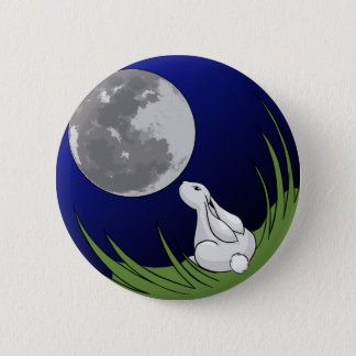 Moon Bunny Button
