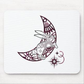 Moon Bunny Jump Mouse Pad