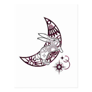 Moon Bunny Jump Post Card