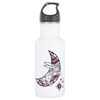 Moon Bunny Jump Stainless Steel Water Bottle