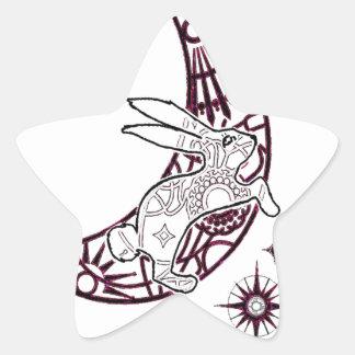 Moon Bunny Jump Star Sticker