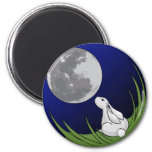 Moon Bunny Magnet