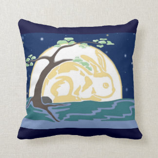 Moon Bunny Pillow