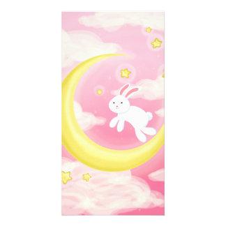 Moon Bunny Pink Card