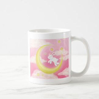 Moon Bunny Pink Coffee Mug