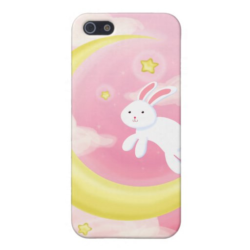 Moon Bunny Pink Covers For iPhone 5