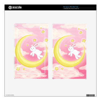 Moon Bunny Pink Decal For Kindle Fire