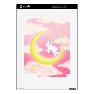Moon Bunny Pink iPad 2 Skin