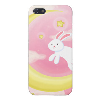 Moon Bunny Pink iPhone SE/5/5s Case