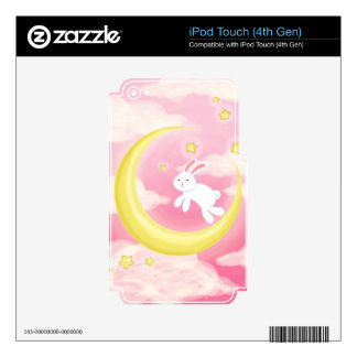 Moon Bunny Pink iPod Touch 4G Skin